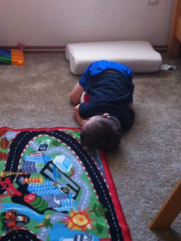 You know you're tired when you fall asleep like this!