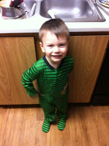 Green monkey jammies